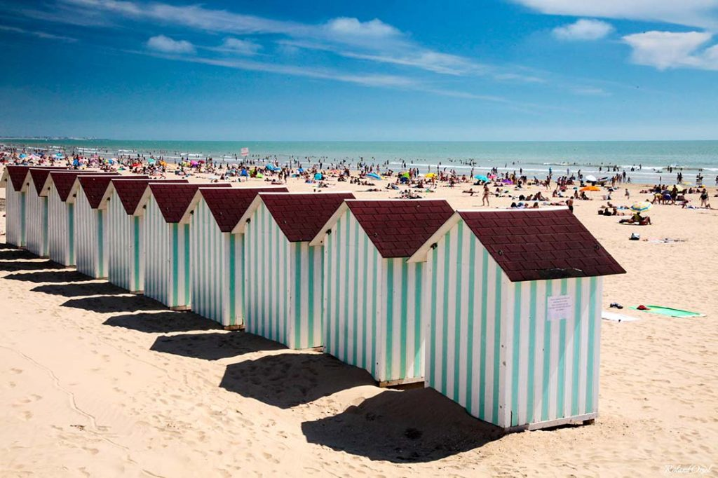 photo cabines de plage camping cote plage saint jean de monts
