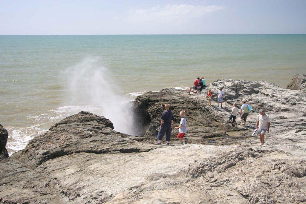 Photo trou du diable côte sauvage en Vendée